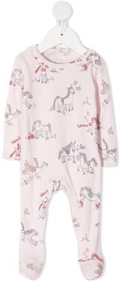 Stella McCartney Kids Horses Doodle-Print Pajamas