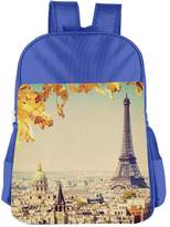 CUIPO JUCPOI Boy's & Girl's Paris Eiffel Tower Travel Camping Backpack
