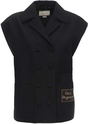 Gucci Oversize Sleeveless Faille Jacket