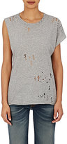 R 13 Women's Tattered T-Shirt-LIGHT GREY