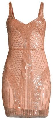 Parker Black Lauren Sequin Sheath Dress