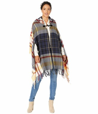 Collection XIIX Women's Mega Twill Plaid Hooded Wrap