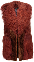 Just Cavalli Paneled shearling vest