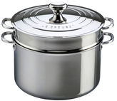 Le Creuset 9QT. Stockpot with Lid & Deep Colander Insert Cookware Set (2 PC)