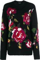 Dolce & Gabbana Roses Printed Crewneck Pull
