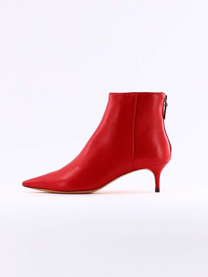 Alexandre Birman Red Kittie Ankle Boot