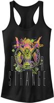 Fifth Sun Women's Tank Tops BLACK - Doctor Strange Cosmic Neon Racerback Tank - Women & Juniors