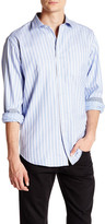 Bugatchi Printed Stripe Long Sleeve Classic Fit Shirt