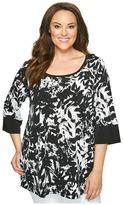 Karen Kane Plus - Plus Size Print Tunic Women's Long Sleeve Pullover