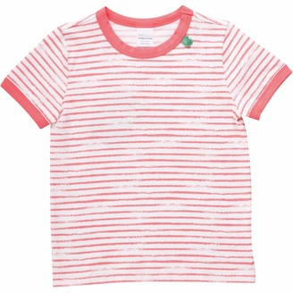 Green Cotton Fred's World by Girl's Ocean Stripe S/s T T-Shirt