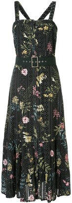 We Are Kindred Floral Flared Midi Dress