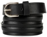 Merona Women's Trapunto Belt Black