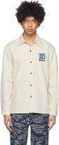 Kenzo Off-White Denim Embroidered Logo Shirt