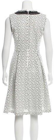 Karl Lagerfeld Embellished Laser Cut Dress