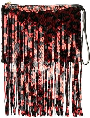 No.21 Sequin Fringe Clutch Bag