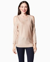 Charming charlie Classic Cold Shoulder Sweater