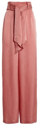 Mother of Pearl Iona Satin Wide-Leg Trousers