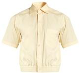 Balenciaga Cropped short-sleeved cotton shirt