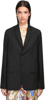 Jil Sander Wool & Mohair Single Breasted Jacket