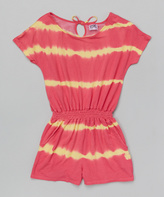 Erge Coral Tie-Dye Romper