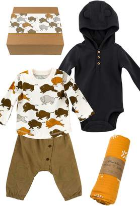 Buffalo David Bitton Oliver & Rain Bold Little 4-Piece Cotton Clothing & Accessories Gift Set