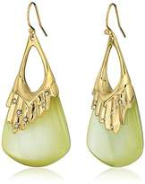 Alexis Bittar Crystal Studded Pleated Wire Ivory Drop Earrings