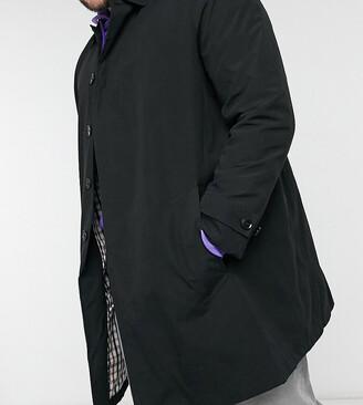 Burton Menswear Big & Tall mac in black