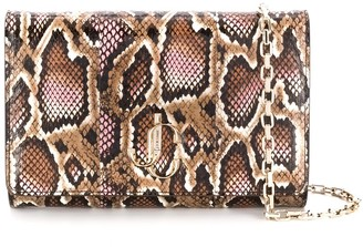 Jimmy Choo Varenne snakeskin-effect clutch