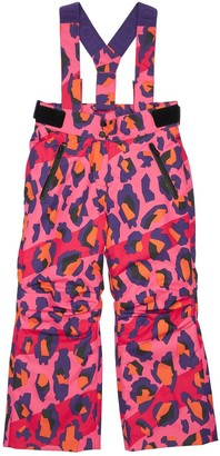 Kenzo Kids Printed Nylon Ski Pants W/ Suspenders