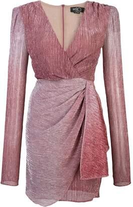 PatBO Ombré lurex wrap dress