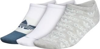 adidas Originals Assorted 3-Pack Graphic No-Show Socks