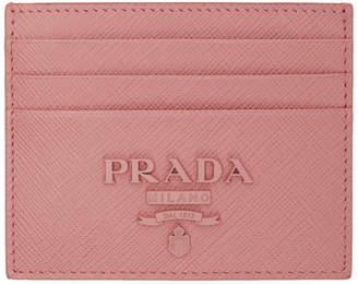Prada Pink Monochrome Card Holder