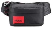 HUGO BOSS Ripstop Nylon Belt Bag With Contrast Logo Patch - Black