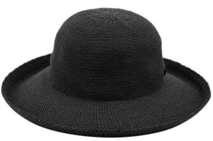 04089f55f696 Black And White Wide Brim Hat - ShopStyle