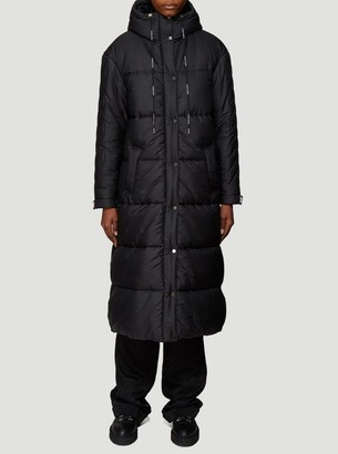 Off-White Arrow Logo Hooded Padded Coat