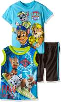 Nickelodeon Paw Patrol Little Boys' Toddler 3pc Top and Short Set