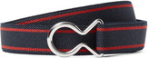Prada 2cm Leather-Trimmed Striped Elasticated Webbing Belt