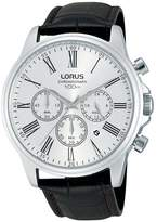 Lorus Stainless Steel Chronograph Brown Leather Strap Mens Watch