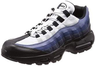 Nike Men's Air Max 95 Essential Low-Top Sneakers, (Black/Obsidian-Navy Blue-Pure Platinum 028), 40.5 EU