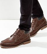 New Look Brown Cleated Moccasin Boots