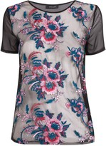 Thumbnail for your product : New Look Floral Embroidered Mesh Top