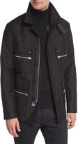 Tom Ford Satin-Cotton Field Jacket, Black