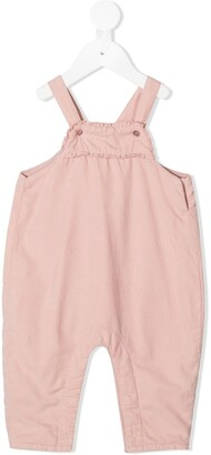 Knot Ruffled Detail Dungaree Trousers