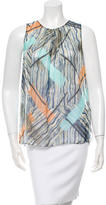 Peter Som Sleeveless Abstract Print Top