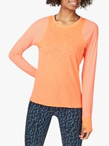 Sweaty Betty Breeze Running Top, Fluro Flash Pink