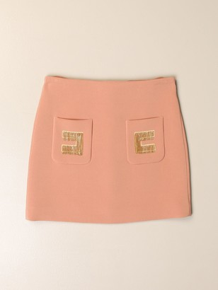 Elisabetta Franchi Skirt With Fringed Logo