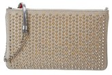 Christian Louboutin Loubiposh Embellished Leather Clutch.