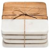 Threshold Marble & Wood Coasters Set of 4