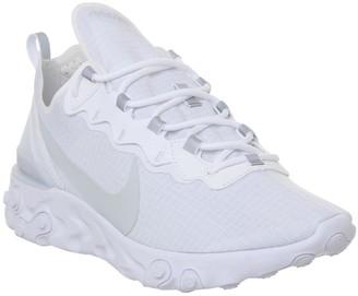 Nike React Element 55 Trainers White Pure Platinum