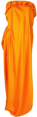 Poiret Draped Strapless Dress